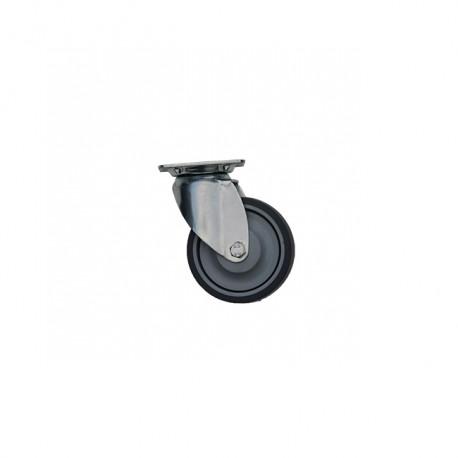 Pivoting Wheel With Platinum Bandage Caoutchouc Ø75mm