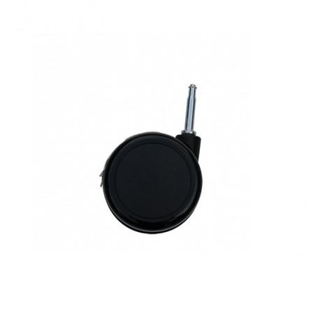 Roue Noire Pivotante Ø75mm T.7mm