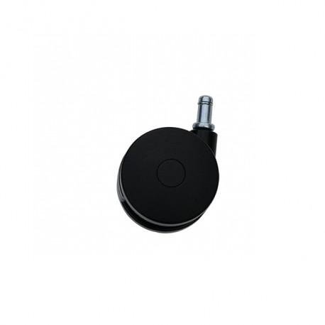 Roue Noire Pivotante Tige Ø75mm 11X20mm