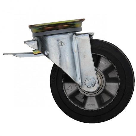 Pivoting Wheel With Platinum + Brake Ø160mm