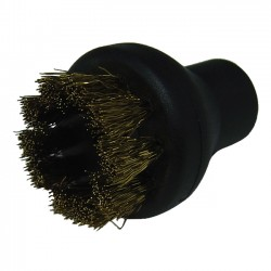 Small Round Brush Brass