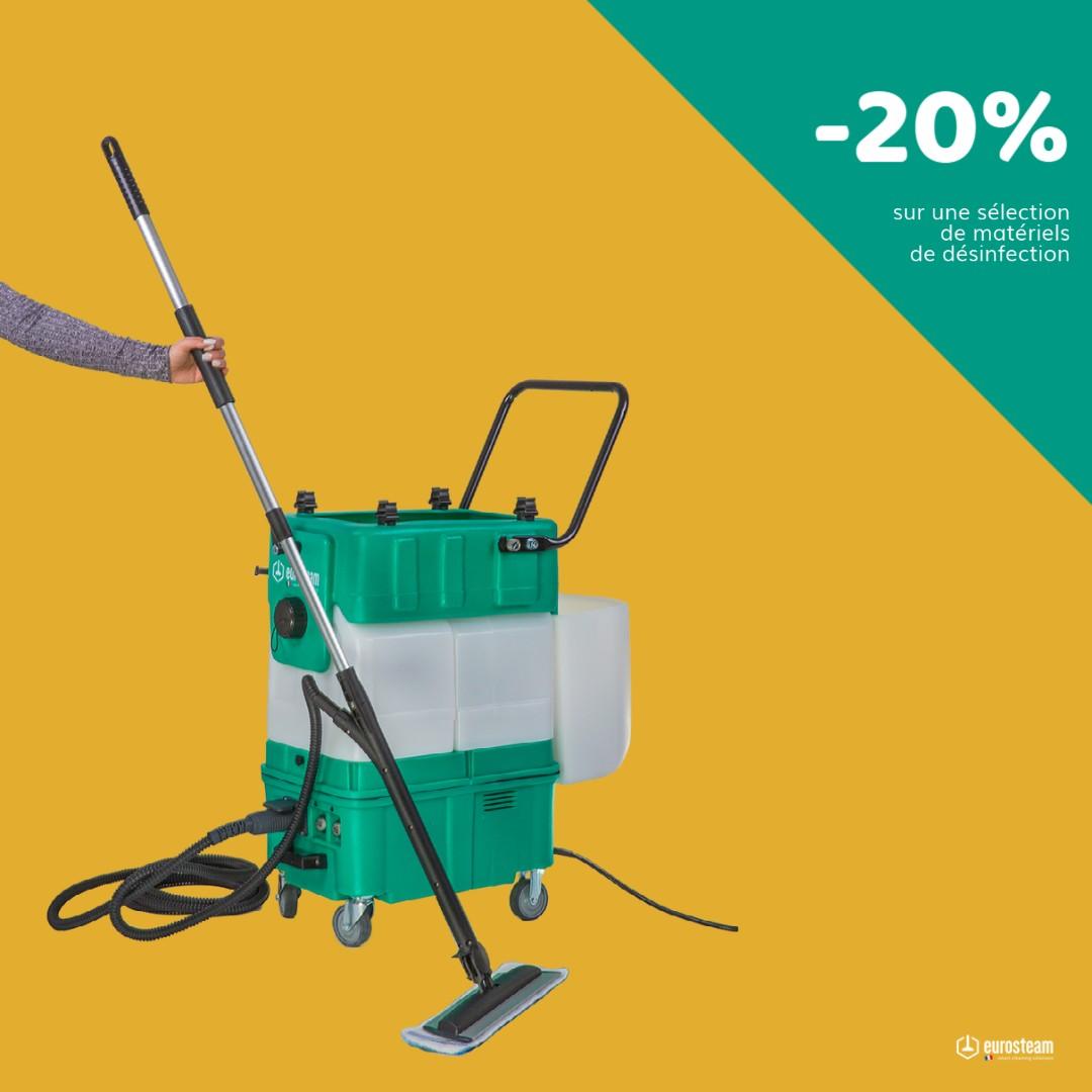 -20% sur une sélection de matériels de désinfection