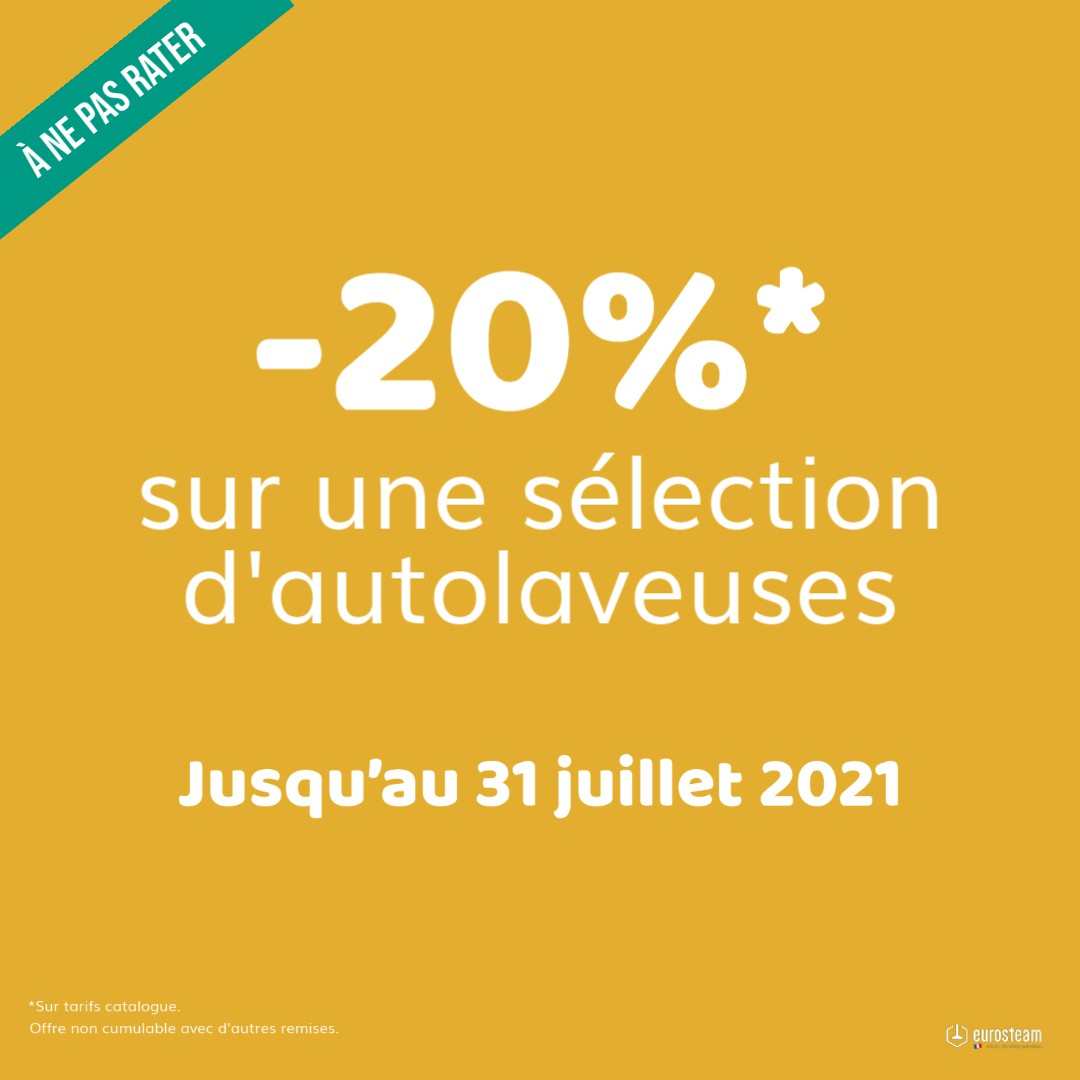 -20% sur une sélection d'autolaveuse